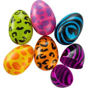 Animal Print Fillable Easter Eggs 6ct