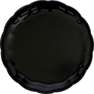 Black Plastic Scalloped Platter