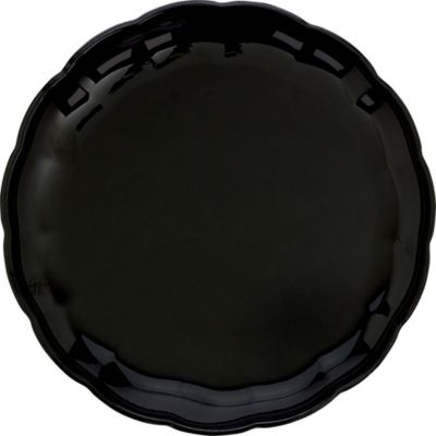 Black Plastic Scalloped Tray