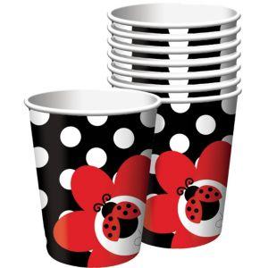 Fancy Ladybug Cups 8ct