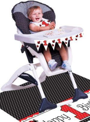 Fancy Ladybug 1st Birthday High Chair Decorating Kit 3pc