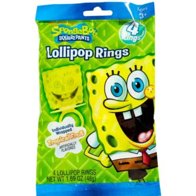 SpongeBob Candy Rings 4ct
