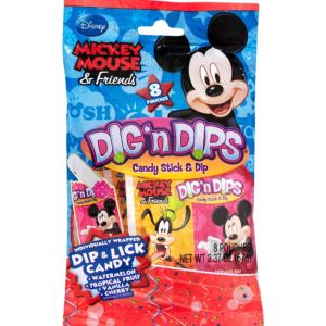 Mickey Mouse Candy Sticks & Dips 8ct