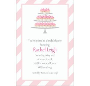 Custom Cake of Cupcakes Bridal Shower Invitations