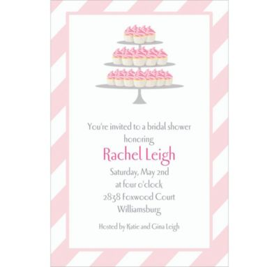 Cake of Cupcakes Custom Bridal Shower Invitation