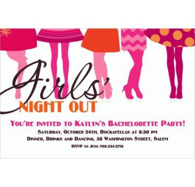 Custom Girls Night Out Invitations