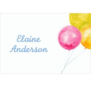 Custom Bride with Balloons Bridal Shower Thank You Notes