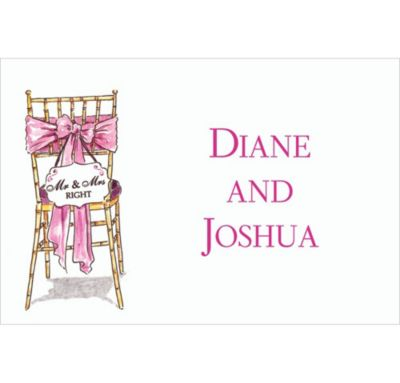 Mr. And Mrs. Right Custom Bridal Shower Thank You Note