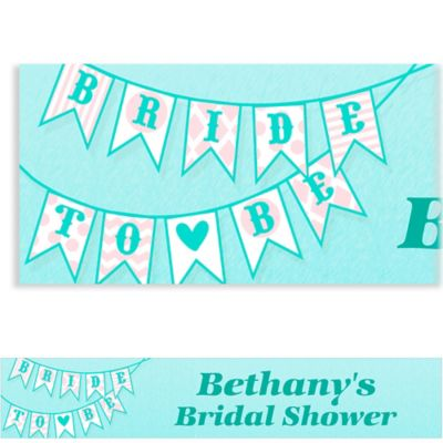 Custom Bride to Be Flags Bridal Shower Banner 6ft