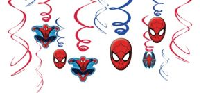Spider-Man Swirl Decorations 12ct