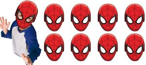 Paper Spider-Man Masks 8ct
