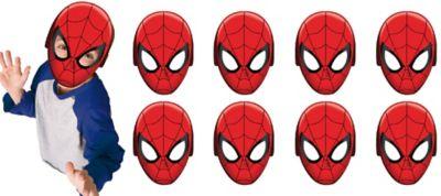 Paper Spider-Man Masks 8ct