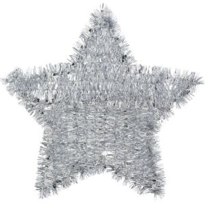Tinsel Silver Star Sign