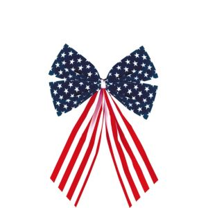Small Patriotic American Flag Bow