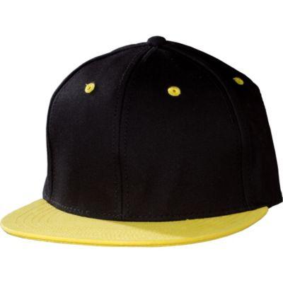 Yellow Black Colorblock Baseball Hat