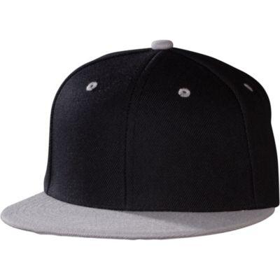 Gray Black Colorblock Baseball Hat