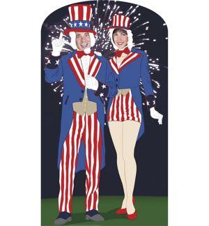 Life-Size Aunt & Uncle Sam Photo Cutout
