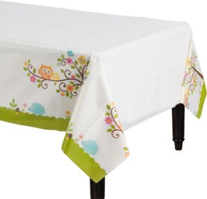 Owl Baby Shower Table Cover