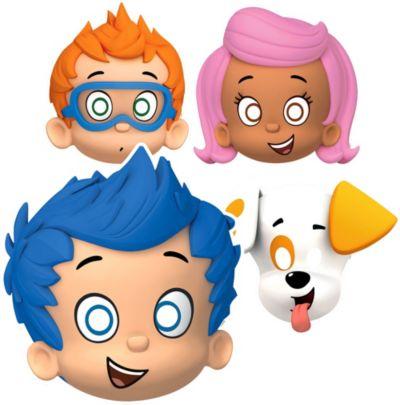 Paper Bubble Guppies Masks 8ct
