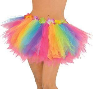 Adult Hibiscus Rainbow Hula Tutu