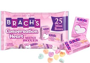 Brach's Tiny Conversation Heart Mini Exchange Boxes 25ct