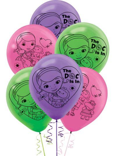 Doc McStuffins Balloons 6ct