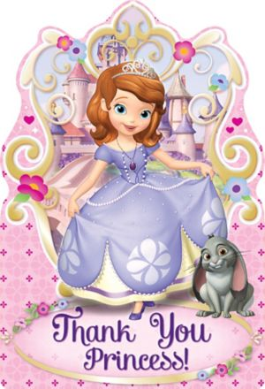 Sofia the First Thank You Notes 8ct