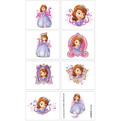 Sofia the first tattoos 1 sheet party city for Sofia the first tattoos