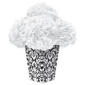 Black Fluffy Flower Centerpiece Kit 6pc