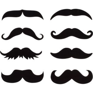 Moustache Drink Decals 16ct