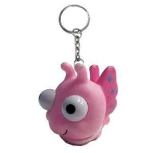 Eye Pop Squeeze Butterfly Keychain