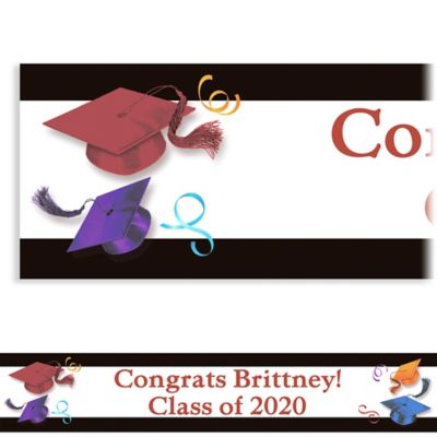 Custom School's Out Graduation Banner 6ft