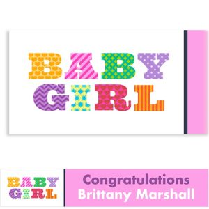 Custom Big Baby Girl Baby Shower Banner 6ft