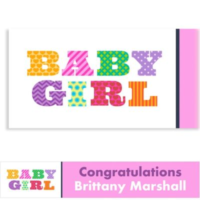 Big Baby Girl Custom Baby Shower Banner