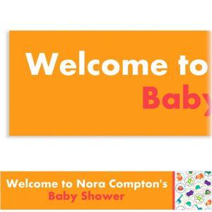 Custom Jungle Animal Polka Dots Baby Shower Banner 6ft