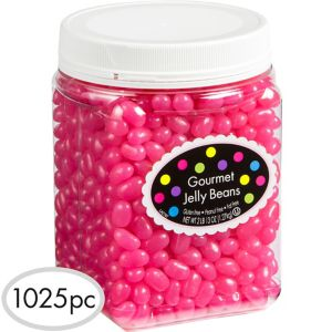 Bright Pink Jelly Beans 1025pc