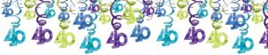 The Party Continues 40th Birthday Swirl Decorations 30ct