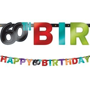 Celebrate 60th Birthday Banner
