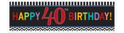 Celebrate 40th Birthday Banner 65in