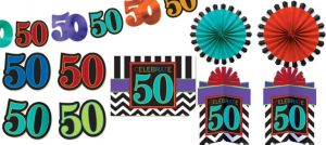 Celebrate 50th Birthday Room Decorating Kit 10pc