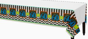 Celebrate 60th Birthday Plastic Table Cover