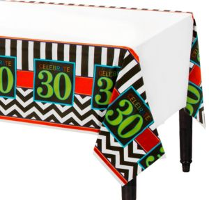 Celebrate 30th Birthday Plastic Table Cover