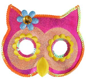 Child Sequin Owl Mask