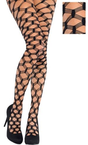 Adult Bold Black Fishnet Pantyhose
