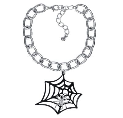 Black Spider Web Chain Bracelet