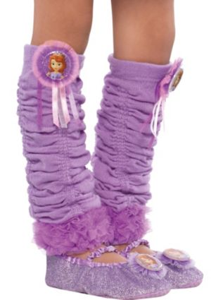 Child Sofia the First Leg Warmers