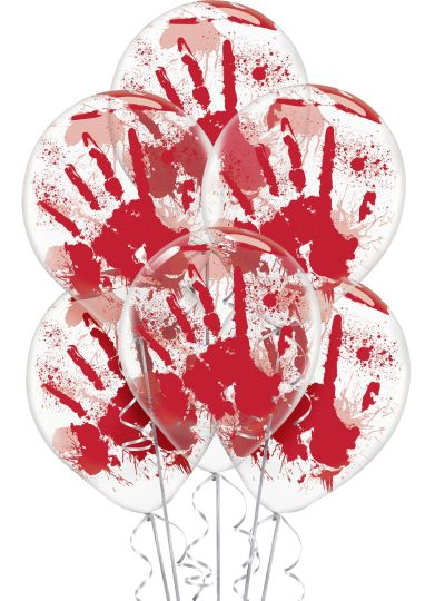 Blood Splatter Balloons 12in 6ct Party City