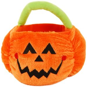 Plush Jack-o'-Lantern Treat Bucket