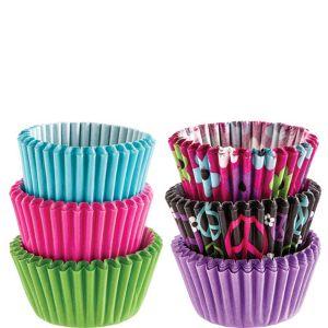 Peace & Flower Mini Baking Cups 150ct