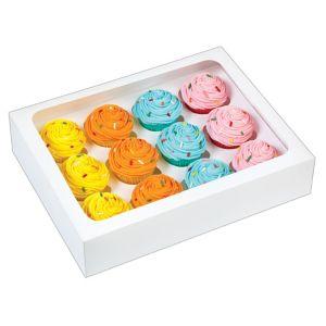 White Mini Cupcake Boxes 3ct